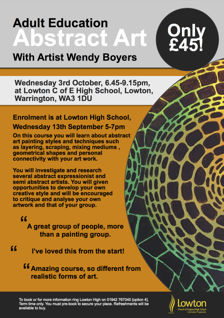 Evening Adult Abstract Art Course – Lowton High School