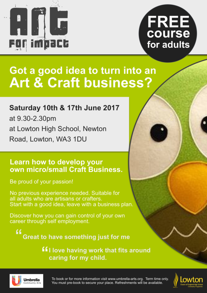 Earn an income from crafts