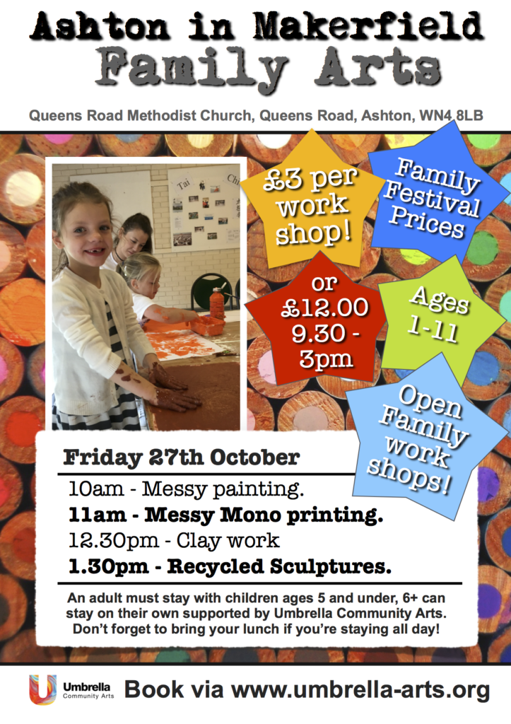 Ashton Family Art October 2017 Art club leaflet