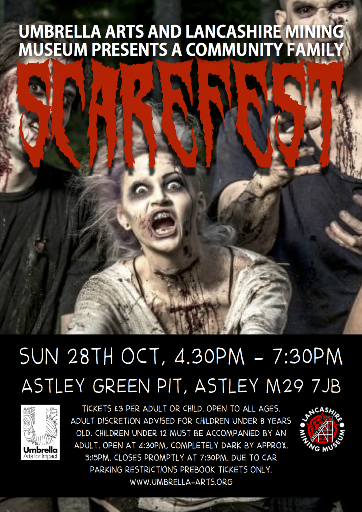 Astley Pit Scarefest Poster